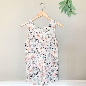 MAURICES Semi Sheer Delicate Floral Sleeveless Top